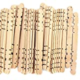 Notched Hobby Craft Sticks Natural Wood 4.5 Inch (1,000 Pack)