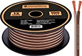 InstallGear 12 Gauge Speaker Wire - 99.9% Oxygen-Free Copper - True Spec and Soft Touch Cable (100-feet)