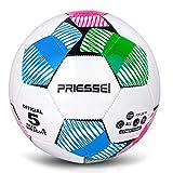 Priessei, pallone da calcio ufficiale da allenamento per interni ed esterni, misura 5, palla da calcio professionale (fen+lan+lv)