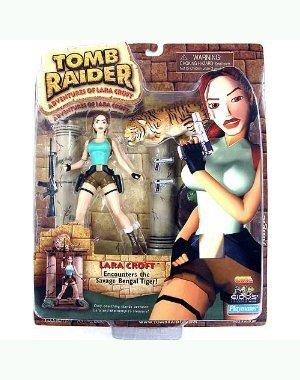 Tomb Raider ~ Lara Croft Doll w/ Bengal Tiger by Tomb Raider