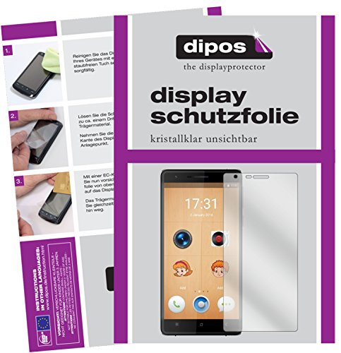 dipos I 6X Schutzfolie klar kompatibel mit Oukitel K4000 Lite Folie Bildschirmschutzfolie