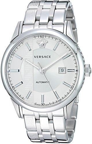 Versace Herren analog Schweizer Automatik Uhr mit Edelstahl Armband V18040017