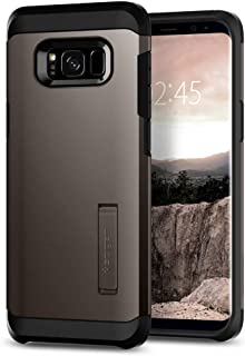 Spigen Tough Armor Galaxy S8 Case with Reinforced Kickstand and Heavy Duty Protection and Air Cushion Technology for Samsung Galaxy S8 (2017) - Gunmetal