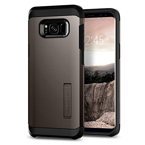 Samsung Galaxy S8 Case, Spigen® [Tough Armor] Galaxy S8 Case Cover with Kickstand and Extreme Heavy Duty Protection and Air Cushion Technology for Galaxy S8 (2017) - Gunmetal- 565CS21641
