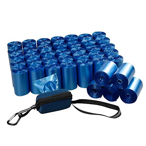 Fiaze 1400 Counts 40 Roll Dog Poop Bags Dog Waste Bags with Dispenser Blue