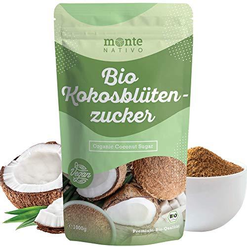 Zucchero di Fiori di Cocco Biologico Monte Nativo 1kg (1000g) - non raffinato - alternativa nutriente allo zucchero - Da coltivazioni biologiche controllate - Vegano - Senza additivi