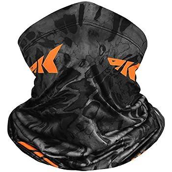 KastKing Sol Armis Neck Gaiter - UPF 50 Face Mask - UV Sun Protection Gaiter Sun Mask for Men & Women Fishing Hiking Kayaking Mask Prym1 Camo,Blackout,19x9.5 Inches