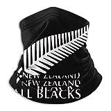 Cache-Cou Nouvelle-Zélande All Blacks Rugby Echarpe Gaiter Lavable Balaclava Élastique Écharpe Demi-Visage Séchage Rapide Chapeaux Demi-Visage pour Vélo Moto Escalade