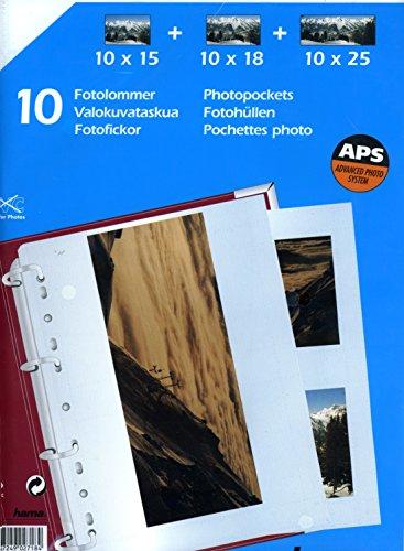 Hama Photohüllen A4, 10 Blatt, weiß, 10 x 15 cm, 10 x 18 cm, 10 x 25 cm