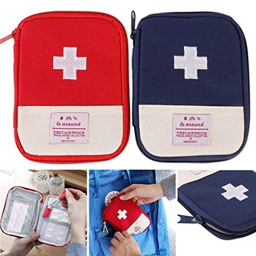 Voiks Compact First Aid Kit Case - Survival Tools Mini Box -...