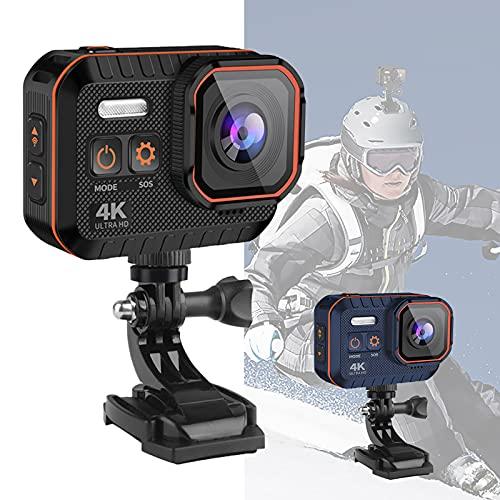 Action Cam 4K 60fps WiFi 20MP Fotocamera Subacquea Impermeabile EIS 170° Pannello IPS grandangolare
