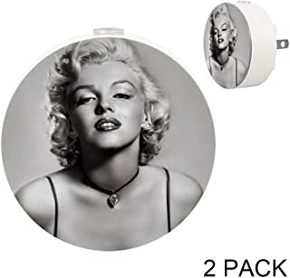 LEVEIS Marilyn Monroe LED Plug in Night Light Auto Sensor Smart Dusk to Dawn Decorative Night for Bedroom, Bathroom, Kitchen, Hallway, Stairs,Hallway,Baby's Room, Energy Saving, 2 Pcs