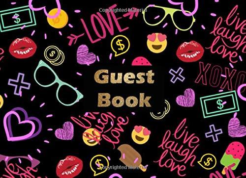 Party Guest Book: Neon colors guest book