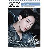 防弾少年団 BTS ジョングク グッズ 卓上 カレンダー (写真集 カレンダー) 2021~2022年(2年分) 】+ ステッカーシール [12点セット]