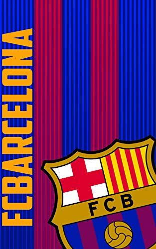 FC Barcelona Manta Polar FCB161, 100 x150 cm, Azulgrana
