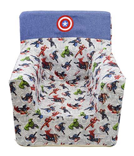 Borda y más Sillón o Asiento Infantil de Espuma Infantil para bebés y niños.(Marvel/Vengadores/Avengers/Superhéroes)