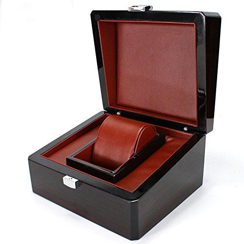SHISHANG 1 Watch Bit Aufbewahrungsbox Uhrenbox High-End-Holz-Schmuck-Box Uhrenbox Holzbox Armband Box High-End-Verpackung Wein rot
