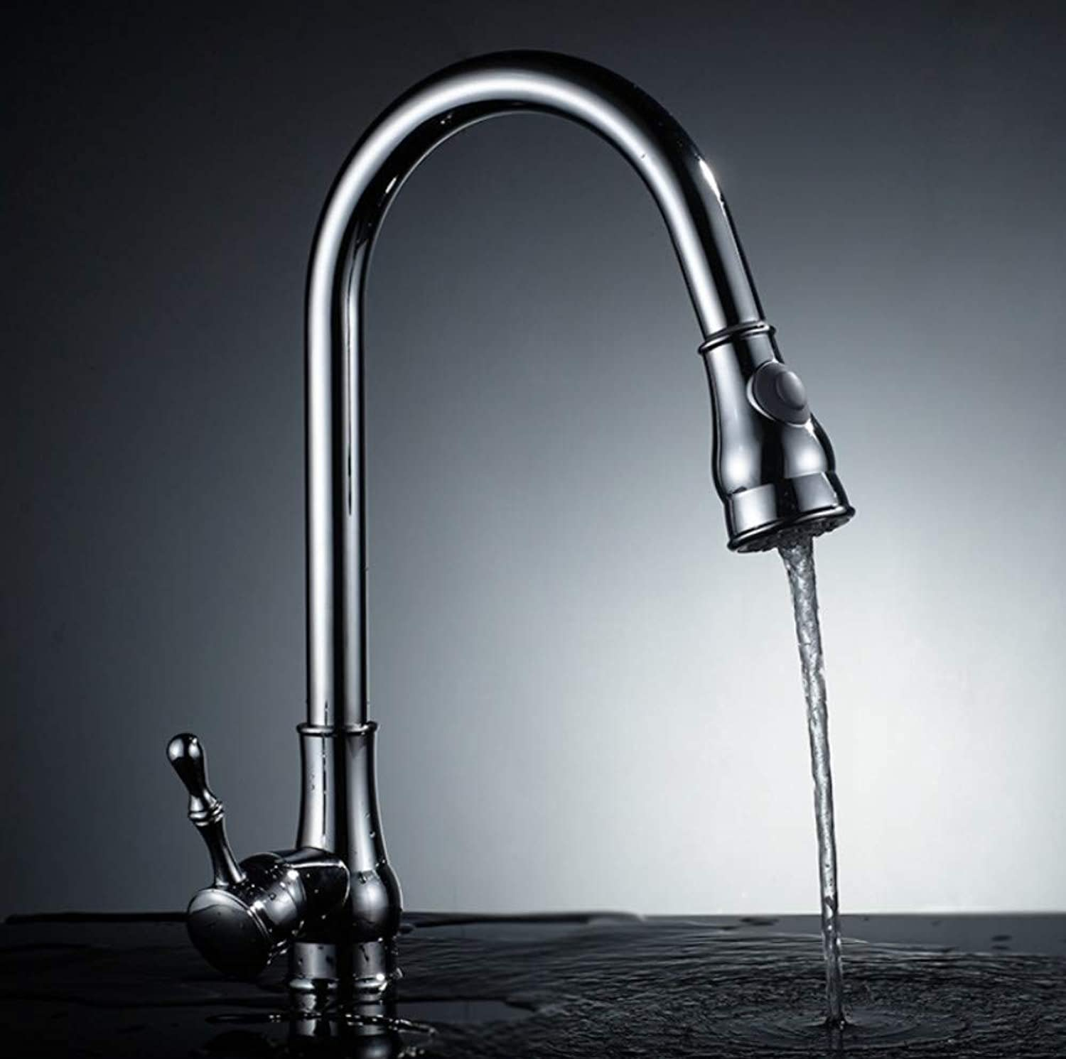 redOOY Pullable kitchen mixer faucet spring basin faucet sink faucet