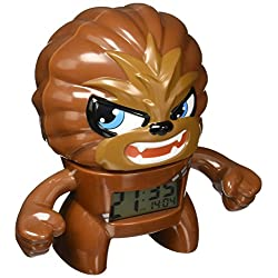 BulbBotz Star Wars Chewbacca Kids Light up Alarm Clock   Brown/Black   Plastic   7.5 inches Tall   LCD Display   boy Girl   Official
