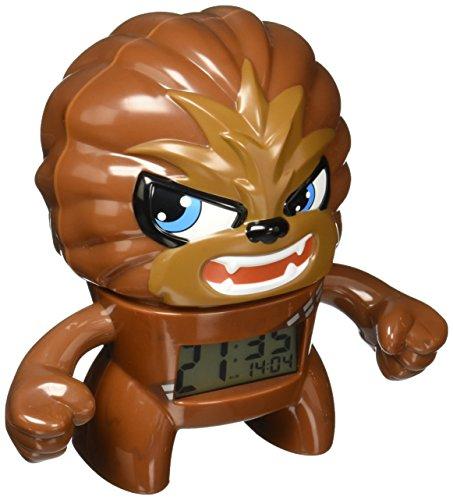 BulbBotz Star Wars Chewbacca - Reloj despertador con luz para niños, color marrón y negro, plástico, 7,5 pulgadas de alto, pantalla LCD, para niño y niña, oficial