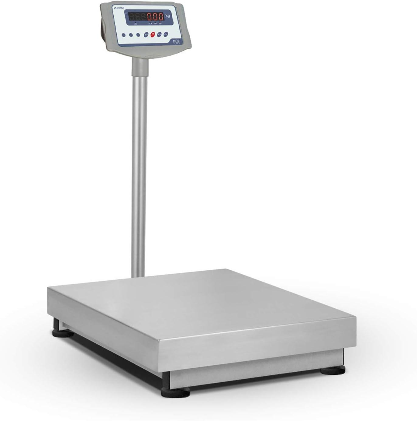 Accurex Báscula Industrial de Plataforma RX-60M (60 kg / 10 g, Plataforma de Pesaje 40 x 50 cm)
