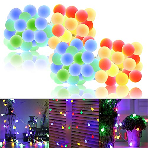 Whonline 2Pack 50LED Globe String Lights - 16.4ft Waterproof...