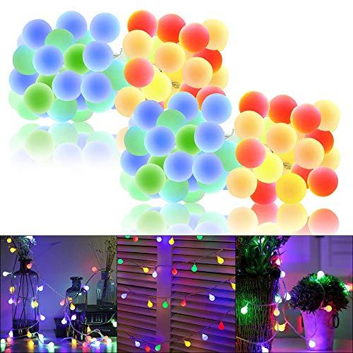 Whonline 2Pack 50LED Globe String Lights - 16.4ft Waterproof...