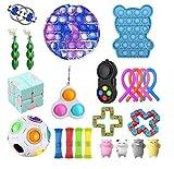 Sensory Fidget Stress Relief Toys Pack Set Paquete De Juguetes,Juguetes antiestres,Squeeze Bean, Regalos de Juguetes para Fiesta de cumpleaños (Pack B)