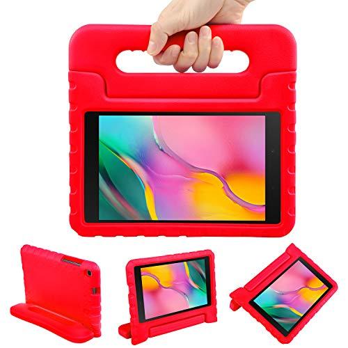 NEWSTYLE Funda para Galaxy Tab A 8.0 2019 SM-T290/T295,Extra Resistente a Prueba de caídas Fabricada en EVA con 2 en 1 Llevar y como Soporte para niños (Rojo)