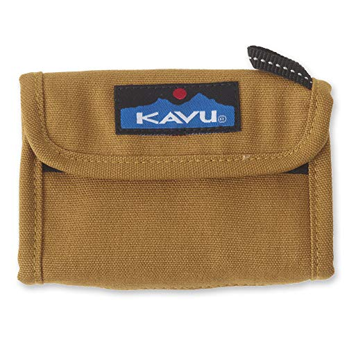 KAVU Wally Trifold Wallet with Coin Pocket and Key Ring - Tobacco