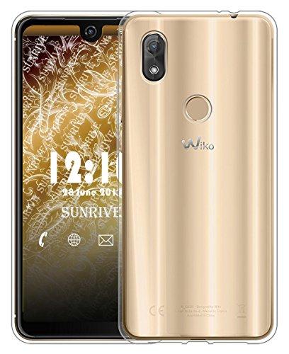 Sunrive Für Wiko View 2 Pro Hülle Silikon, Transparent Handyhülle Schutzhülle Etui Hülle für Wiko W_C860 (6,0 Zoll) View 2 Pro(TPU Kein Bild)+Gratis Universal Eingabestift