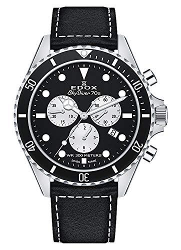 EDOX herenhorloge Skydiver 70s chronograaf datum analoog kwarts 10238 3NC NIA