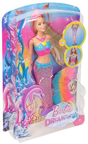 Barbie Sirène Magique de Couleurs Queue Lumière - 6
