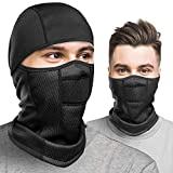 Balaclava Winter Face Mask, Black Ski Mask for Men Women, Ninja Mask, Winter Mask for Men- Windproof, Breathable Warm Gaiter for Cold Weather Outdoor Activities