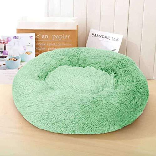 YMBKFan Flauschige Runde Katzenbett Für Kleine Hunde Kätzchen Selbsterwärmung Beruhigende Tierbett Verbesserter Schlaf Weich Plüsch Donut Tierbett Nicht-Slip Hundebett Katzenbett-Und 60cm(24inch)