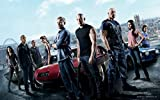 Art Déco Poster, Motiv Fast and Furious – Poster, 37 x