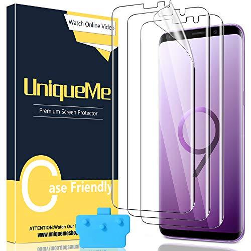 UniqueMe [3 Pezzi] Pellicola Protettiva per Samsung Galaxy S9, [Easy to Install] Soft HD Clear TPU Film con Un Perfetto Servizio Post-Vendita.