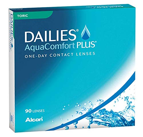 Dailies AquaComfort Plus Toric Tageslinsen weich, 90 Stück, BC 8.8 mm, DIA 14.4 mm, CYL -0.75, ACHSE 180, -2.5 Dioptrien
