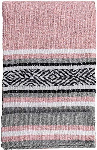 Mexikanische handgewebte Decke, hochwertig, groß, schwere Falsa-Decke, Serape & Yoga-Decke, Stranddecke, Überwurf-Decke, Picknick-Decke (traditionell, pastell)
