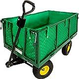 TecTake Chariot de transport jardin remorque à main Charrette à bras Chariot a...