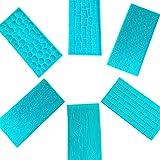HPiano 6 Unidades Moldes Plásticos Grabar Glaseado Diseños de Ladrillo, Madera, Adoquine...