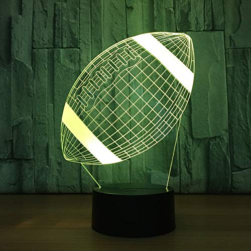 American Football Lampe 3d LED Touch Sensor Kinder Nachtlicht Bett Zimmer Luminaria Ping Nachttischlampe