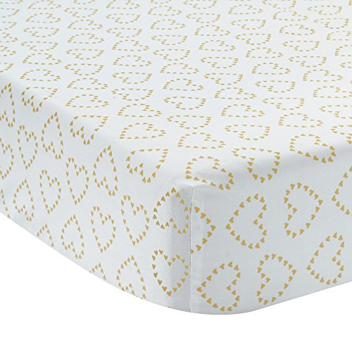 Lambs & Ivy Confetti Fitted Crib Sheet, Pink/Gold H