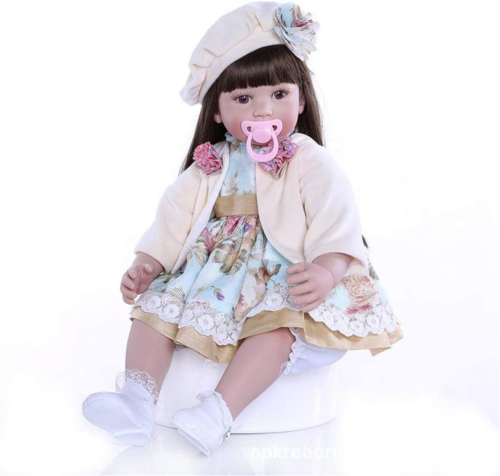 SXFJF New product! New type 24 Inches 60 cm Reborn Long Nurturin Hair Baby Beret Doll Finally resale start