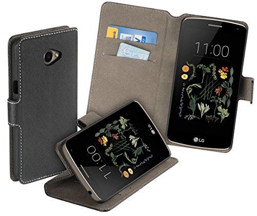 yayago Book Style Tasche für LG K5 Hülle mit Standfunktion Schwarz