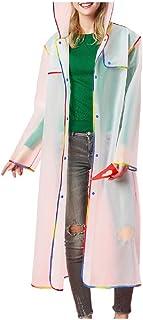 RkYAO Rain Poncho Coat for Women Men Hiking Outdoor Clear Raincoat