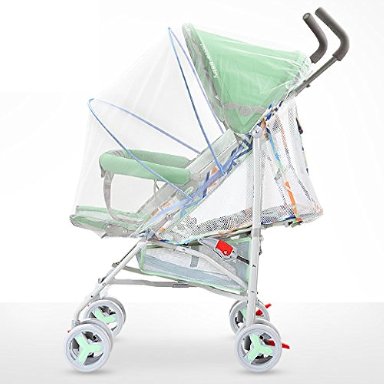 Tragbar Babywagen Fünf-Punkt-Sicherheitsgurt Leichte Faltbare Sitz   Liege Kindertrolley Einstellbare Markise mit Einkaufskorb mit Moskitonetz EVA-Schaum-Stodmpfer-Rad-Kinderwagen Stodmpferreifen