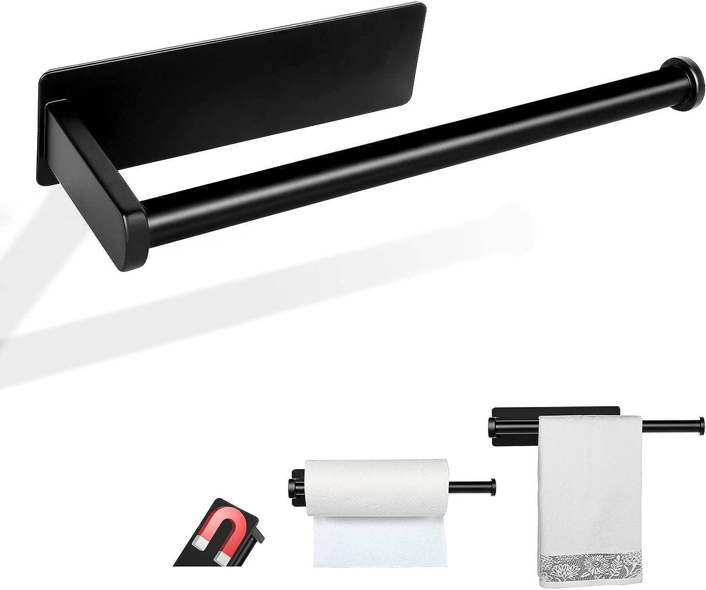 Paper Towel Holders Magnetic with [Alternative dealer] Trust Steel Roll Black