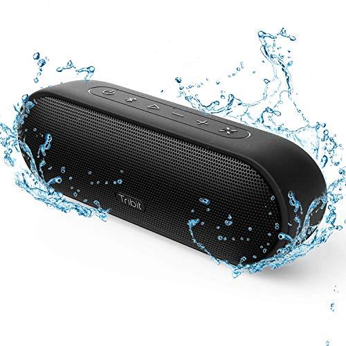 【2021版】Tribit MaxSound Plus bluetoothスピーカー ワイヤレススピーカー ブルートゥーススピーカー 24W ポータブルスピーカー TWS対応 20時間連続再生 IPX7完全防水 マイク内臓 高音質 18ヶ月品質保証 ブラック BTS25