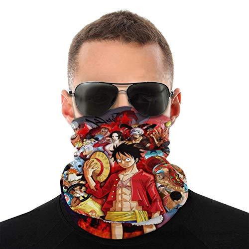 Anime One Piece Monkey D. Luffy Unisex Bandana Pañuelo Facial A prueba de viento Cuello Polainas Pasamontañas